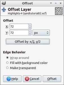 Offset dialog box